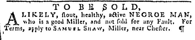 Dec 3 - Pennsylvania Gazette Slavery 1