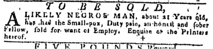 Dec 3 - Pennsylvania Gazette Slavery 2