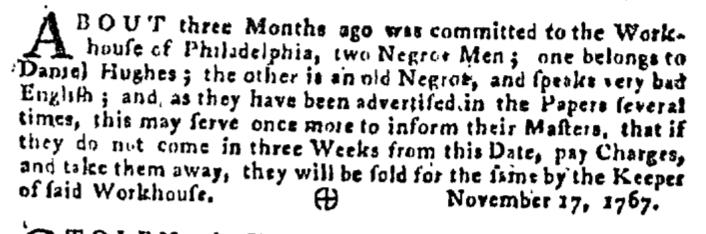 Dec 3 - Pennsylvania Gazette Supplement Slavery 3