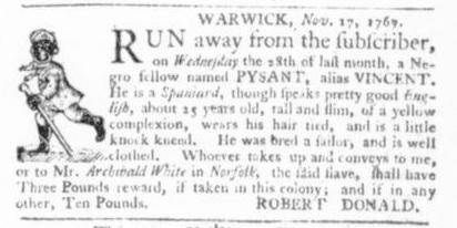 Dec 3 - Virginia Gazette Slavery 3
