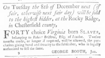 Dec 3 - Virginia Gazette Slavery 6