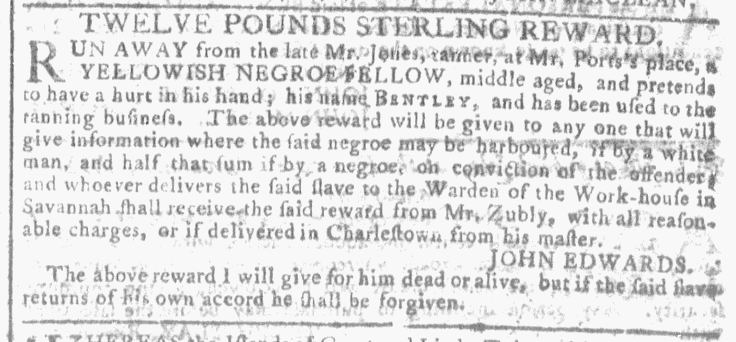 Dec 30 - Georgia Gazette Slavery 5