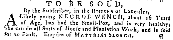 Dec 31 - Pennsylvania Gazette Supplement Slavery 3