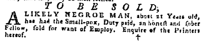 Dec 31 - Pennsylvania Gazette Supplement Slavery 5