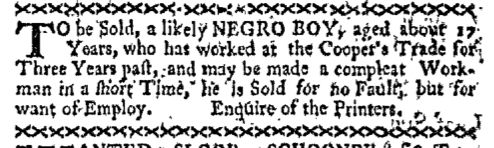 Dec 7 - Boston-Gazette Slavery 1