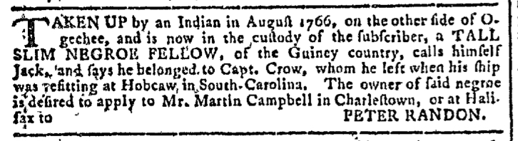 Dec 9 - Georgia Gazette Slavery 5