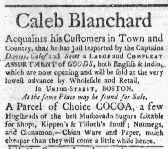 Nov 1 - 10:29:1767 Massachusetts Gazette