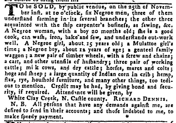 Nov 19 - Pennsylvania Gazette Slavery 2