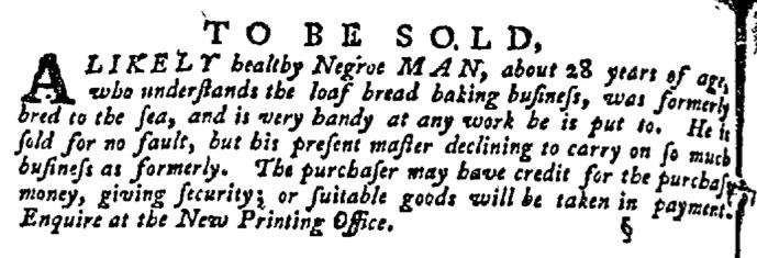 Nov 19 - Pennsylvania Gazette Supplement Slavery 3