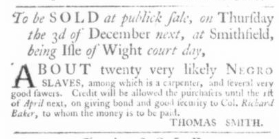 Nov 19 - Virginia Gazette Slavery 2