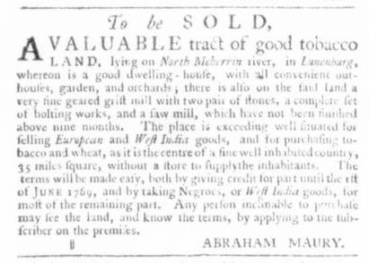 Nov 19 - Virginia Gazette Slavery 3