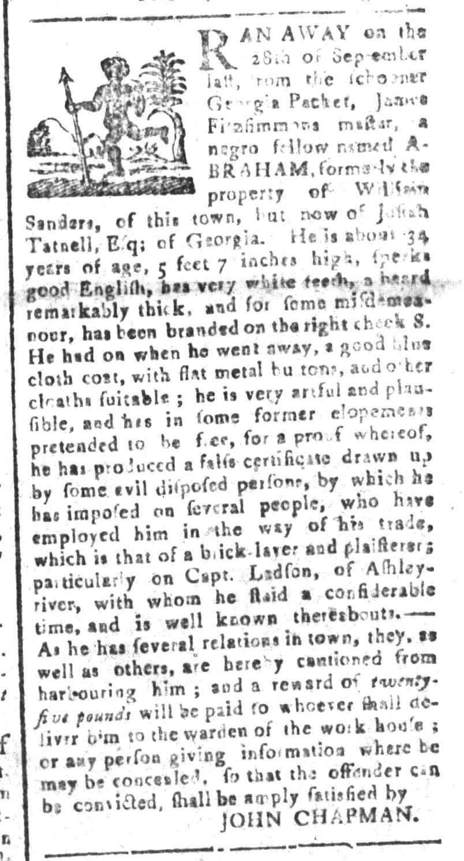 Nov 20 - South-Carolina and American General Gazette Slavery 5