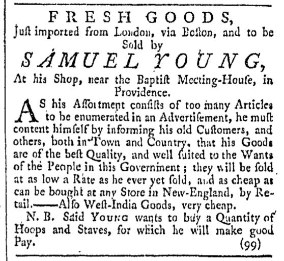 Nov 21 - 11:21:1767 Providence Gazette