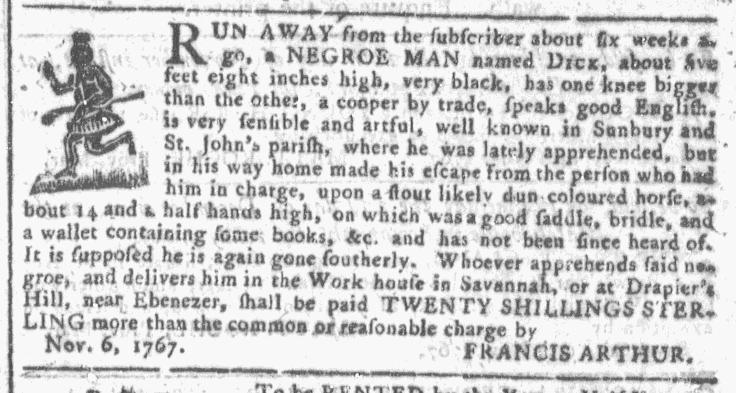 Nov 25 - Georgia Gazette Slavery 3