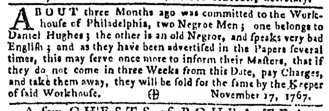 Nov 26 - Pennsylvania Gazette Slavery 2