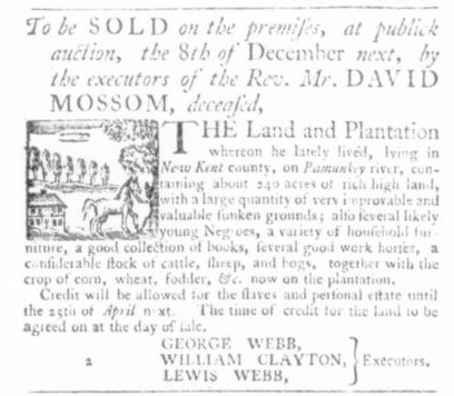 Nov 26 - Virginia Gazette Slavery 2