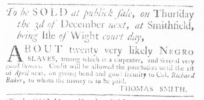 Nov 26 - Virginia Gazette Slavery 6