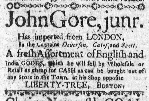 Nov 8 - 11:5:1767 Massachusetts Gazette