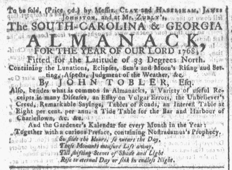 Dec 16 - 12:16:1767 Georgia Gazette