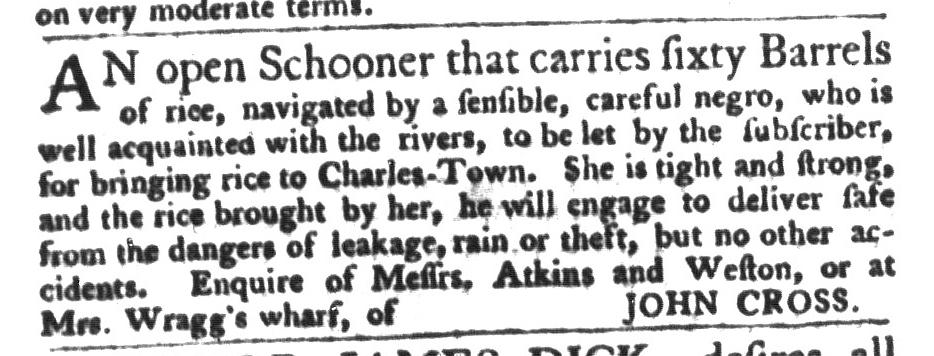 Dec 8 - South-Carolina Gazette and Country Journal Slavery 9
