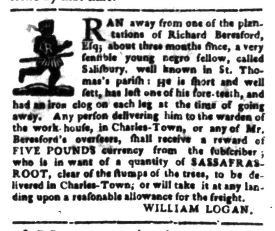 Feb 1 - South Carolina Gazette Slavery 10
