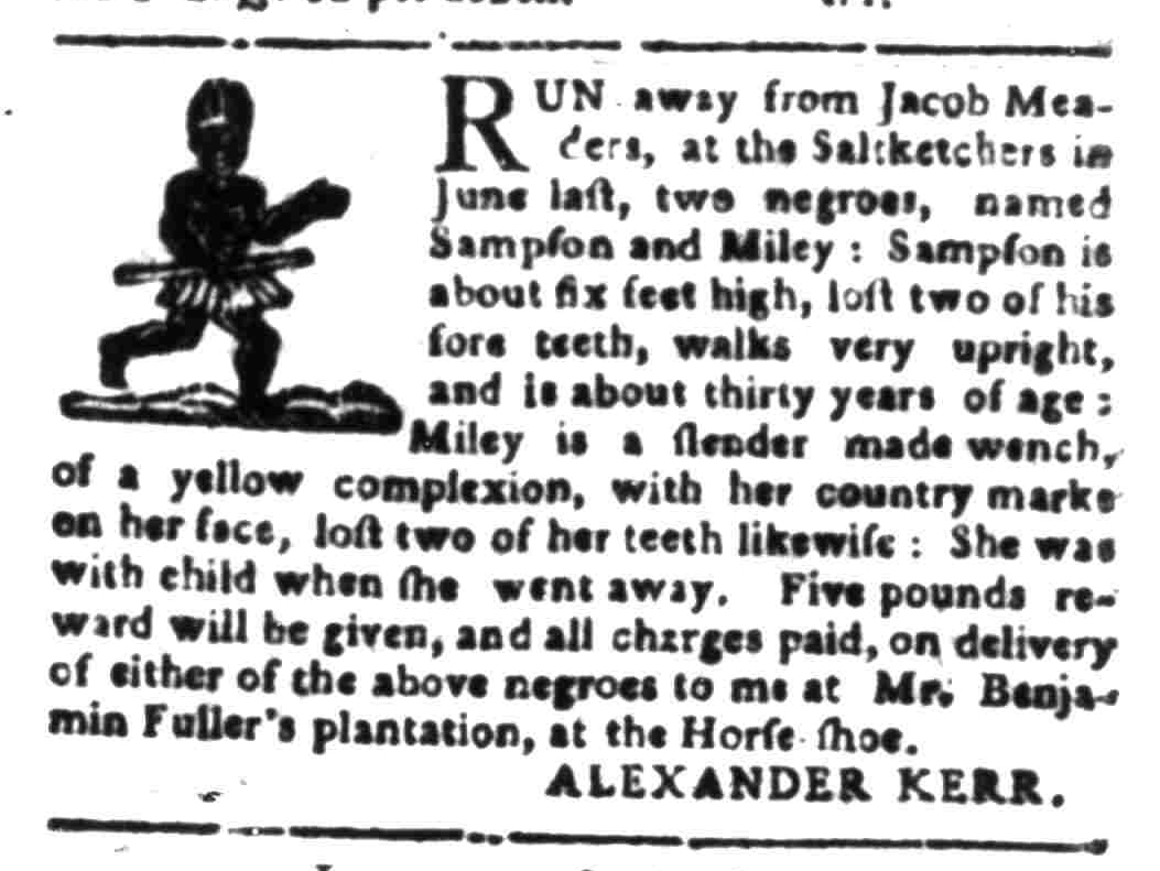 Feb 1 - South Carolina Gazette Slavery 11