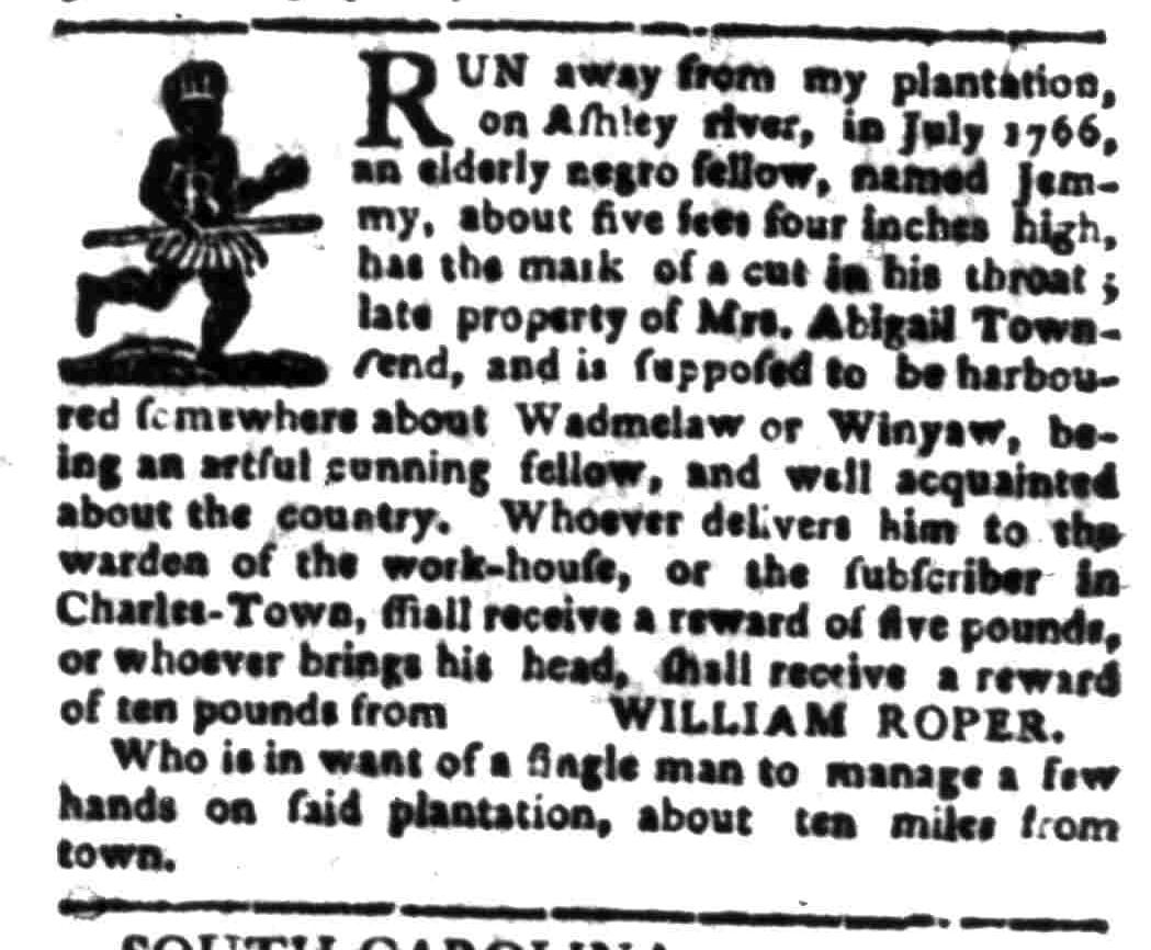 Feb 1 - South Carolina Gazette Slavery 12
