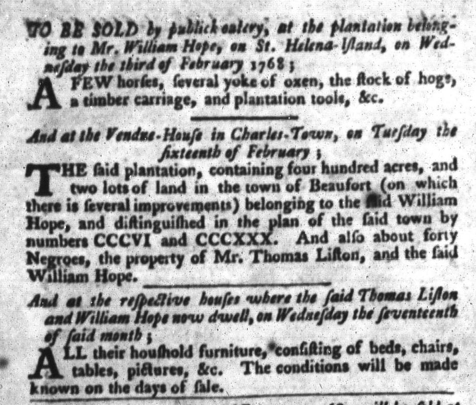 Feb 2 - South-Carolina Gazette and Country Journal Slavery 7