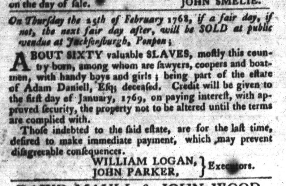 Feb 2 - South-Carolina Gazette and Country Journal Slavery 9