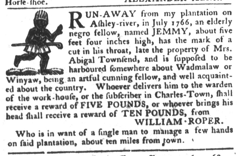 Feb 2 - South-Carolina Gazette and Country Journal Supplement Slavery 10
