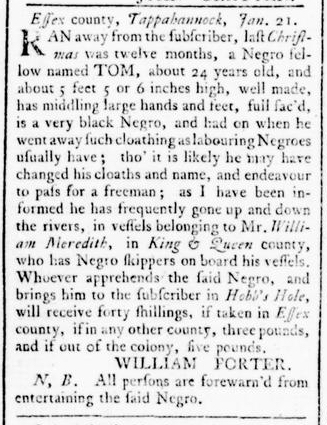 Feb 4 - Virginia Gazette Rind Slavery 2