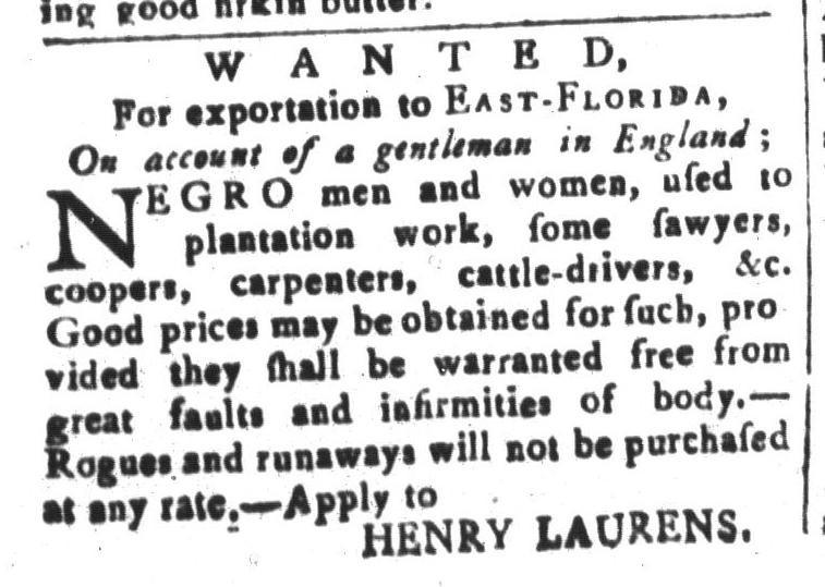 Feb 5 - South-Carolina and American General Gazette Slavery 14