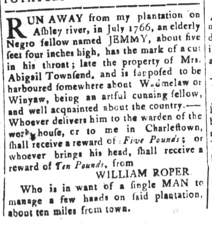 Feb 5 - South-Carolina and American General Gazette Slavery 15
