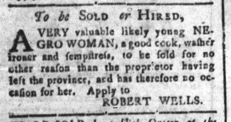 Feb 5 - South-Carolina and American General Gazette Slavery 5
