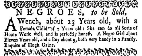 Feb 8 - New-York Gazette Weekly Mercury Supplement Slavery 2