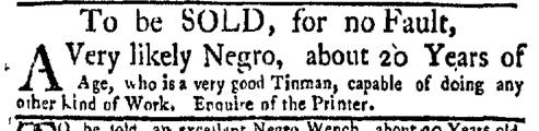 Feb 8 - New-York Gazette Weekly Mercury Supplement Slavery 3