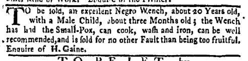 Feb 8 - New-York Gazette Weekly Mercury Supplement Slavery 4