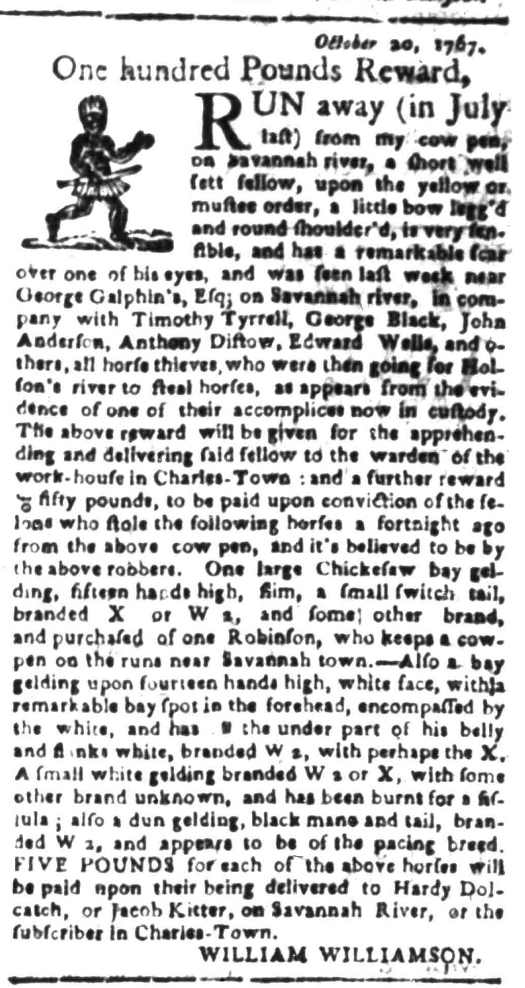 Feb 8 - South Carolina Gazette Slavery 5