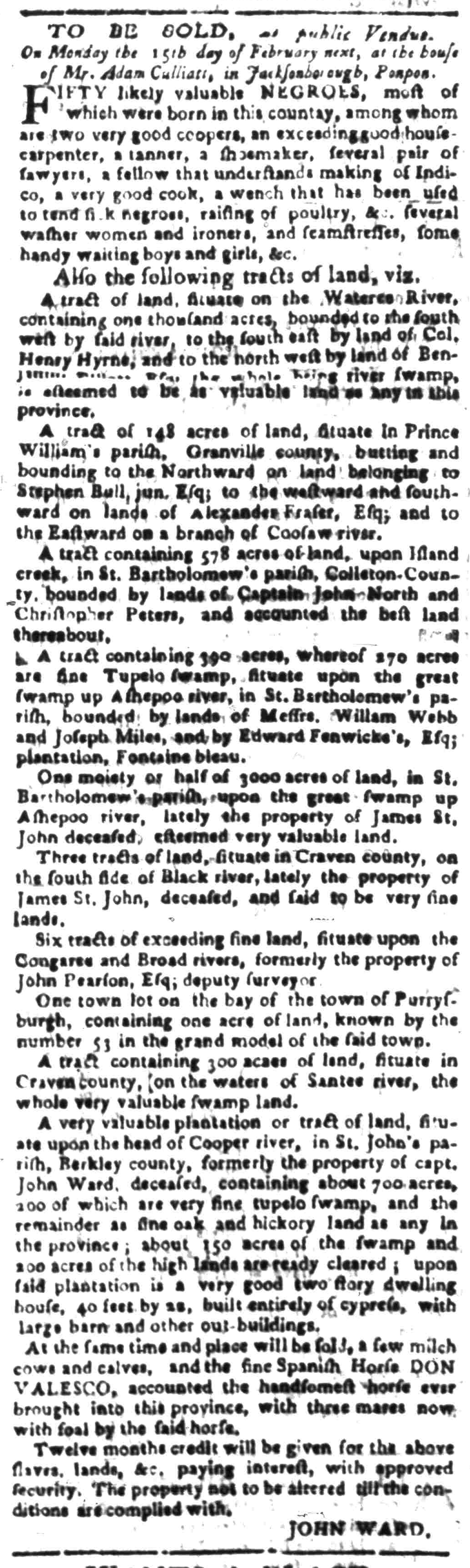 Feb 8 - South Carolina Gazette Slavery 6