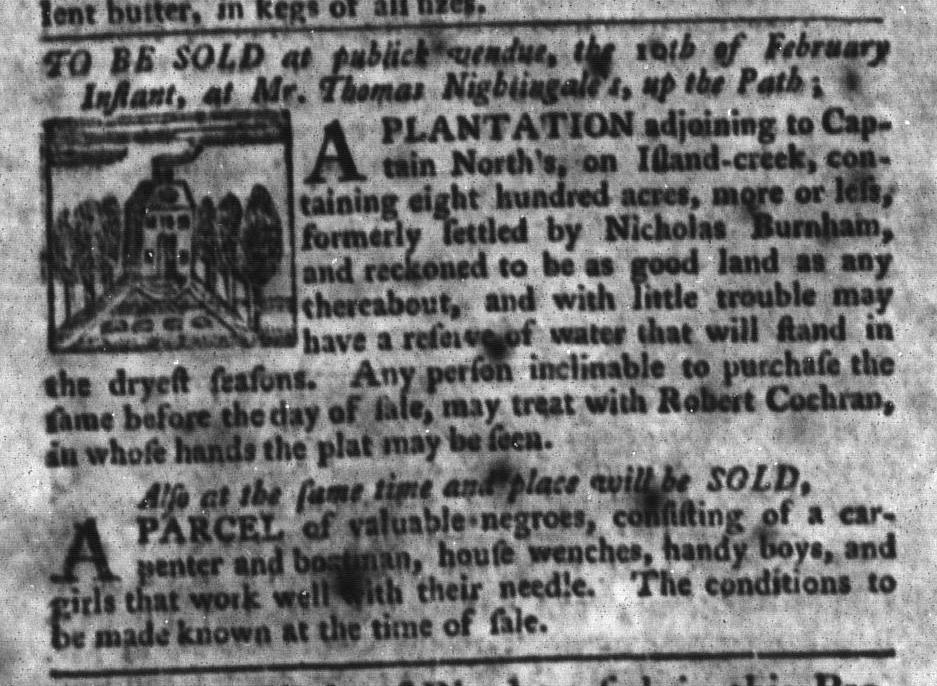 Feb 9 - South-Carolina Gazette and Country Journal Slavery 10