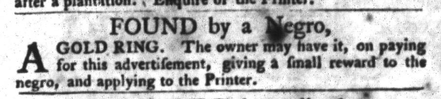 Feb 9 - South-Carolina Gazette and Country Journal Slavery 5