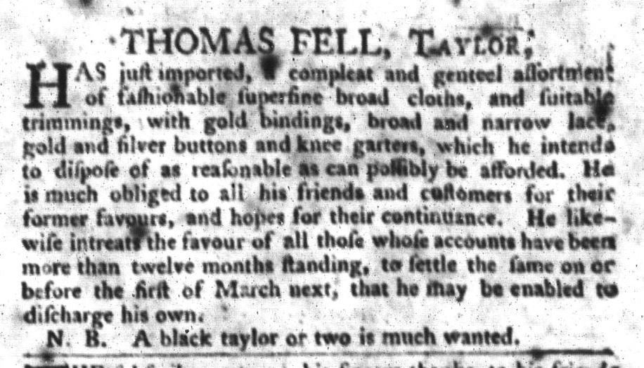 Feb 9 - South-Carolina Gazette and Country Journal Slavery 6