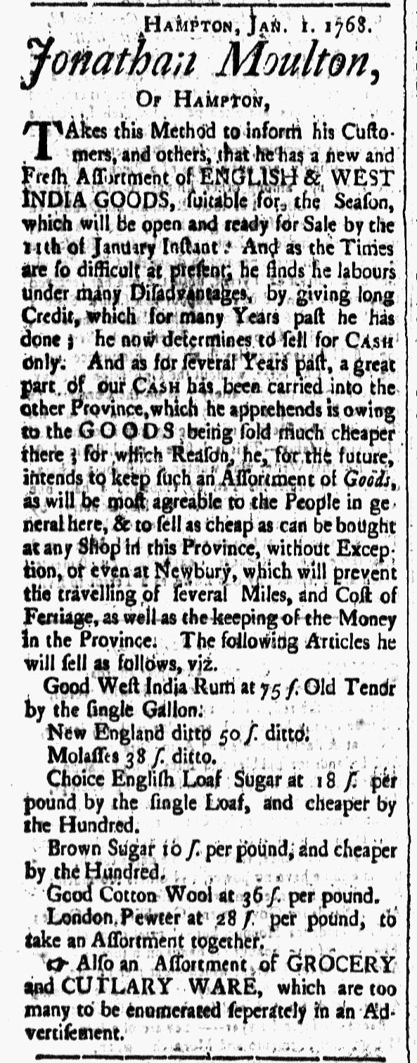 Jan 1 - 1:1:1768 New-Hampshire Gazette