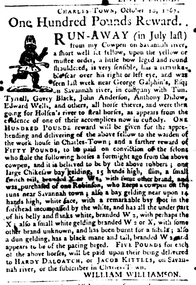 Jan 12 - South-Carolina Gazette and Country Journal Slavery 9