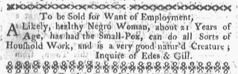 Jan 18 - Boston-Gazette Slavery 1