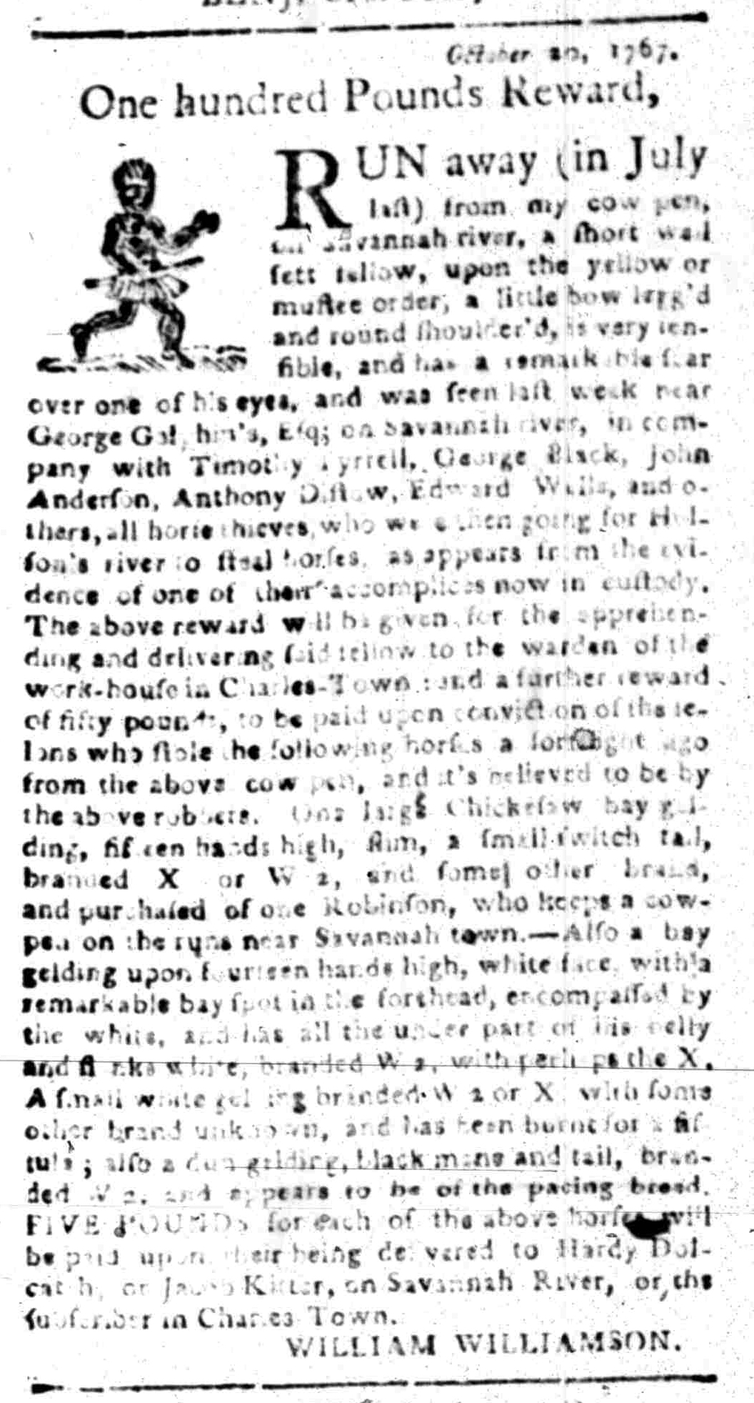 Jan 18 - South Carolina Gazette Slavery 3
