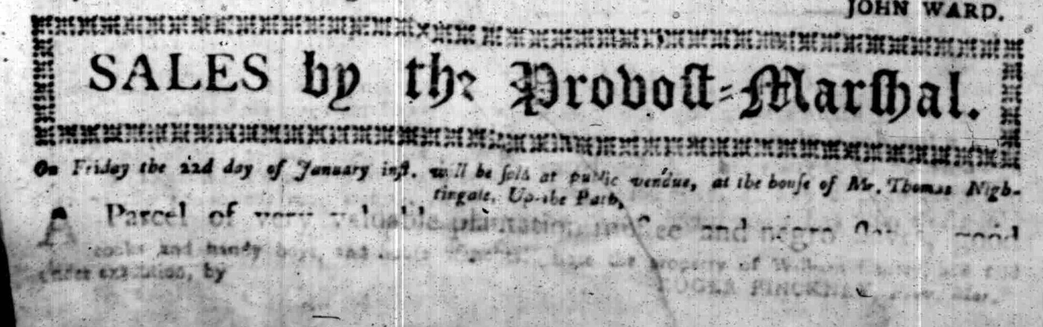 Jan 18 - South Carolina Gazette Slavery 4