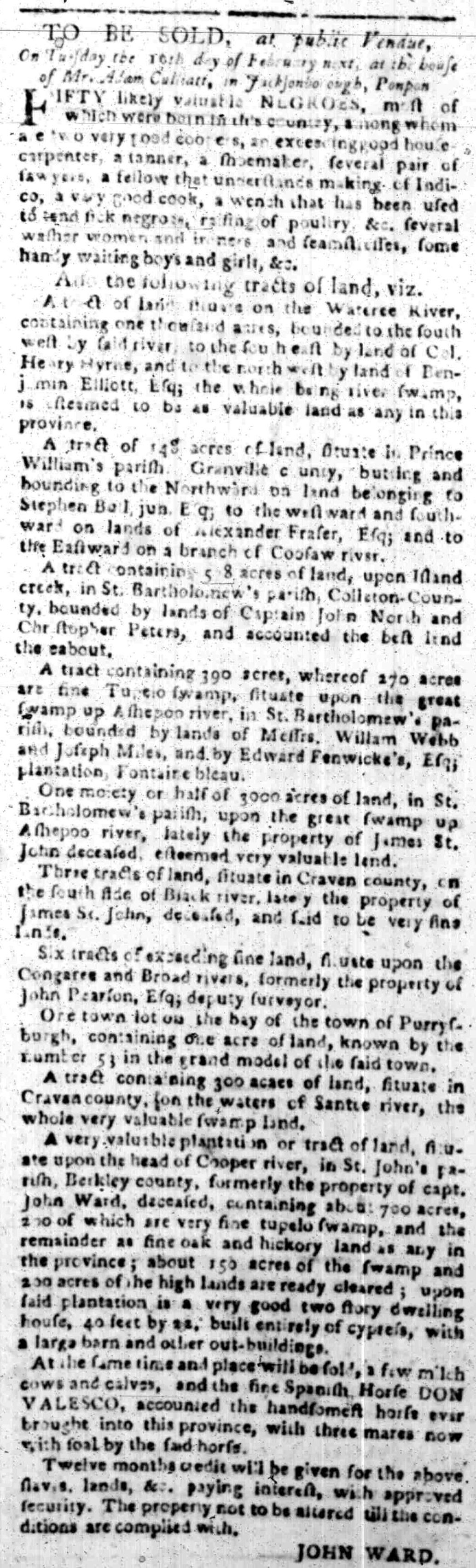 Jan 18 - South Carolina Gazette Slavery 5