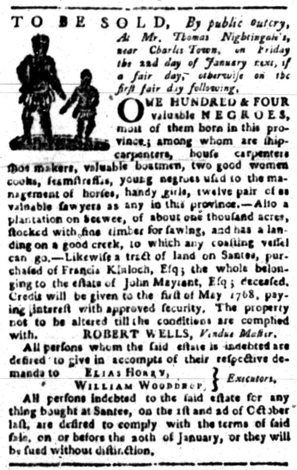 Jan 18 - South Carolina Gazette Slavery 7