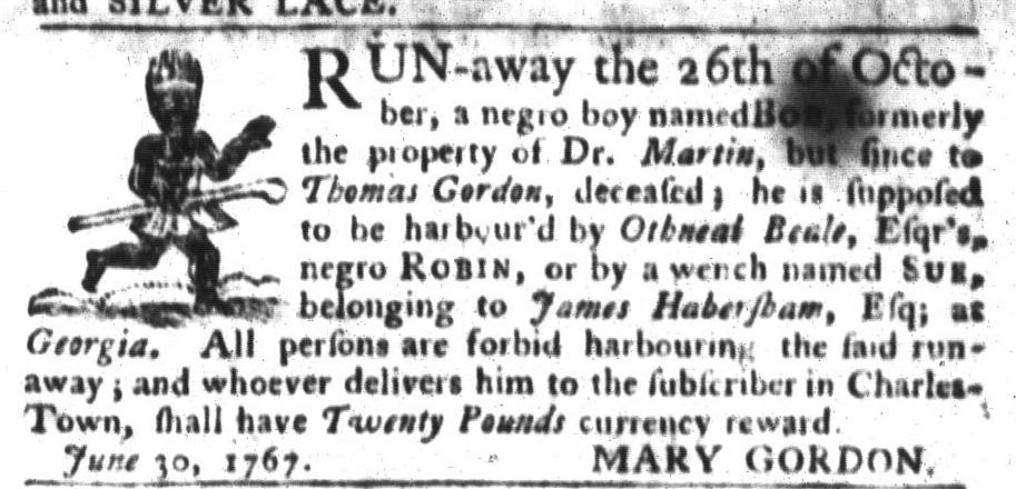 Jan 19 - South-Carolina Gazette and Country Journal Slavery 10